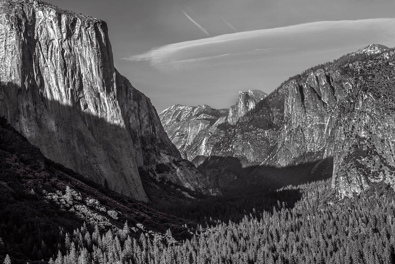 Yosemite Valley B&W-