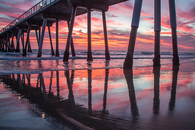 Sunset from Hermosa Beach Pier