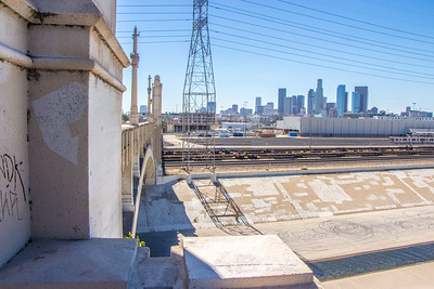LA River and the 4th Street Bridge