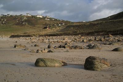 Boulders on Sennen Beach
