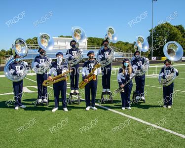Tubas and Saxophones masks
