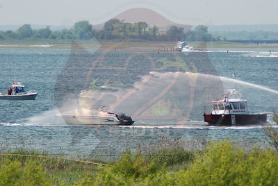 West Islip F.D. Boat Fire w/ Burn Victim I/V/O The Coast Guard Station 5/30/09