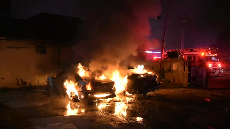 West Islip F.D. Multiple Car Fires