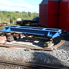 The turntable on a wagon sits over the pit on the temporary rails<br /> <br />  next job as you will see over the next few pics we built a Scaffold <br /> <br /> tower around the wagon
