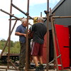 Once the tower was built the chain winch was installed