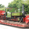The two visiting Locos for the Gala on the back of the Lorry