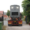 The second lorry backing in with the other locos destined for another <br /> <br /> railway