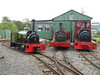 Three visiting Locos all lined up for a photo shoot <br /> <br /> Left to right <br /> <br /> Jack Lane / Cloister / Statfold