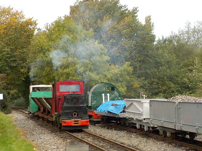 Clwyd on left and # 11 the bread bin as it's known on right   # 11 info below   Loco # 11   Built by: Motor Rail   Engine: 40HP Diesel  Works No. 5906  Year Built: 1934