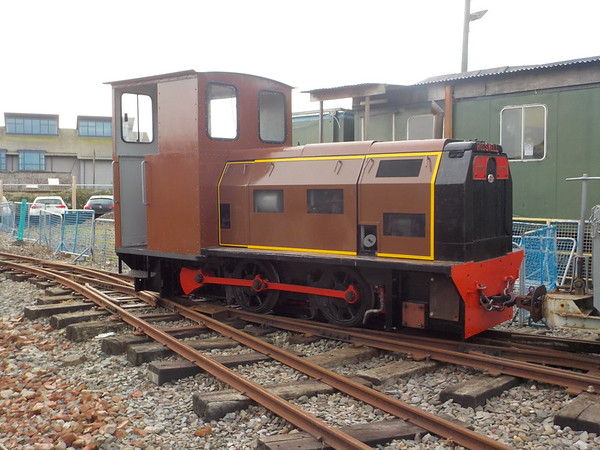 The mines loco got a spin out in the open hauling freight trains