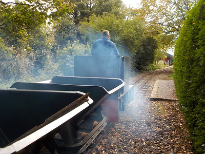 # 21 heading for Willow Tree Halt vanishing in a cloud of blue smoke