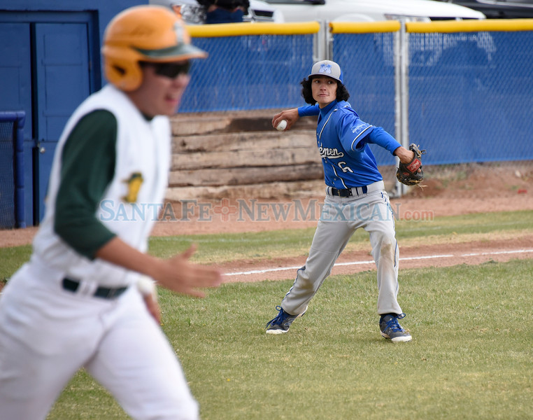 West Las Vegas High at St. Michael's High baseball game played Tuesday, April 25, 2017 at Christian Brothers Athletic Complex, St. Michael's. Clyde Mueller/The New Mexican