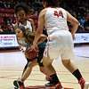 State Girl's Basketball Tournament: quarterfinal Class 4A game between West Las Vegas and Las Vegas Robertson played Tuesday, March 7, 2017 at WisePies Arena/The Pit, Albuquerque. Clyde Mueller/The New Mexican