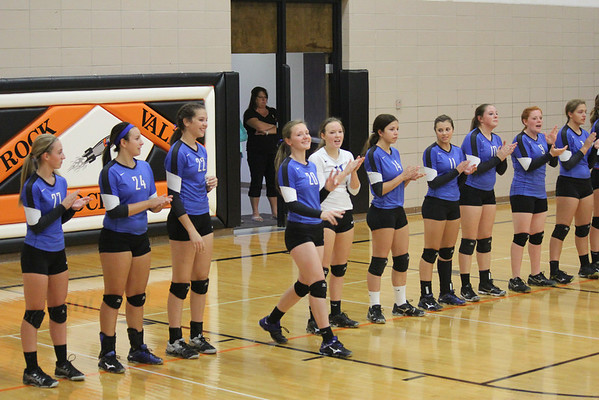 West Lyon at Rock Valley volleyball 10/1