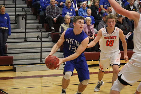 West Lyon boys' basketball vs. Rock Valley for Boys' Class 2A District 2 basketball tournaments 2-16-17