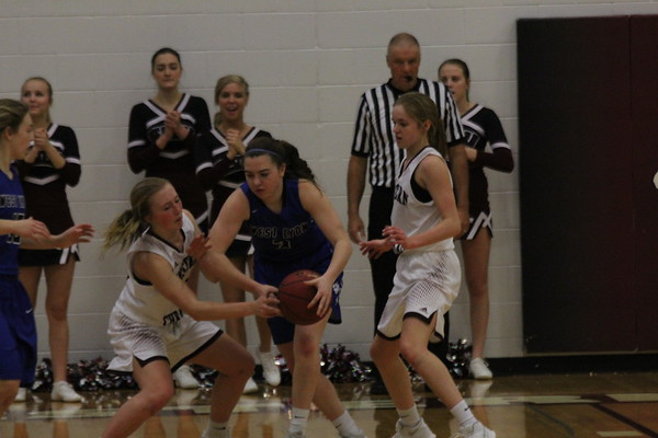 West Lyon girls' basketball Class 2A Region 1 tournaments against Western Christian 2-16-18