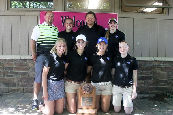 West Lyon girls' state golf 2017