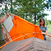 """Conrad Andrews and his girlfriend Ashley Aldhizer set up their tent at West Magnolia Campground, south of Nederland, on Friday afternoon. <br /> For more photos go to  <a href=""""http://www.dailycamera.com"""">http://www.dailycamera.com</a><br /> (Autumn Parry/Staff Photographer)<br /> June 24, 2016"""