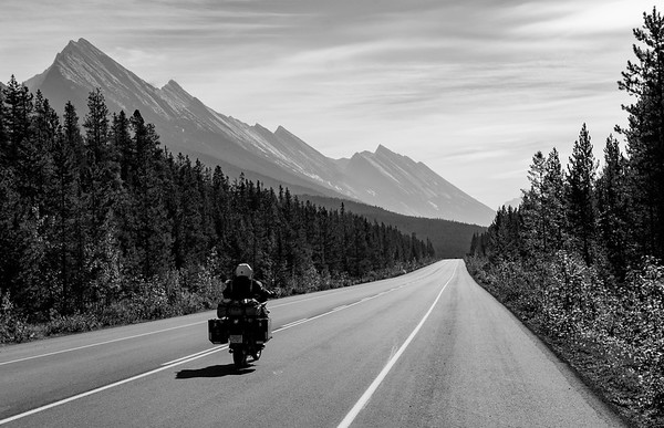 On the Icefields Parkway, Jasper National Park, Alberta, Canada