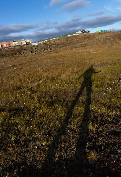 Long shadows, Iqaluit, Nunavut