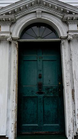 Old door, Warren, Rhode Island, US