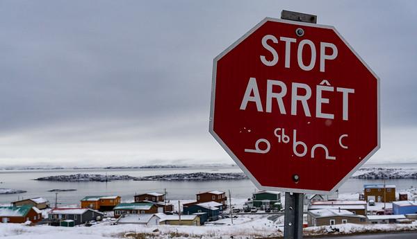 Stop sign, Iqaluit, Nunavut