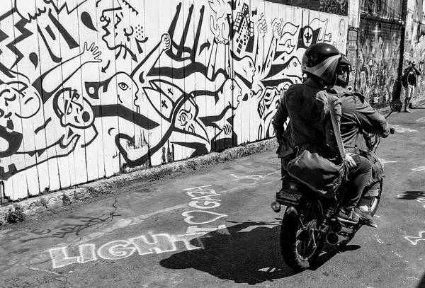 Bikes and graffiti, Mission, San Francisco, USA