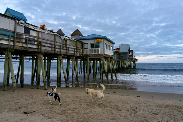 The boardwalk at Old Orchard Beach, Maine, US