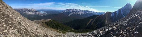 From the side of Roche Miette, Jasper National Park, Alberta, Canada