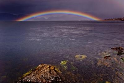 Rainbow across the Sognefjord