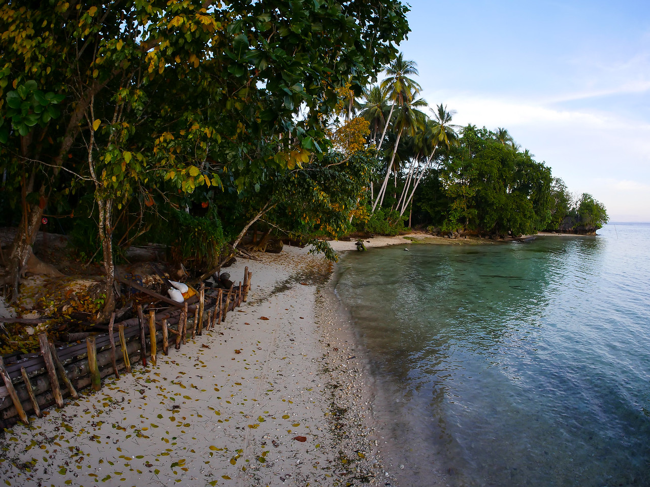 Located on a pristine beach