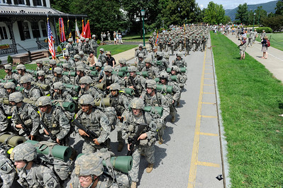 West Point Class of 2016 March Back from Camp Bunker on August 13, 2012.