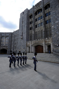 The West Point Plebe cadets Class of 2014, march past Washington Hall during Plebe Parent Weekend at the United States Military Academy at West Point, NY on March 12, 2011. Photo: (C) 2011 Greg E. Mathieson Sr. / MAI