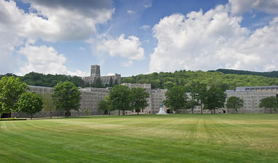 The Plain at the US Military Academy at West Point, NY.