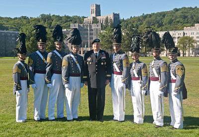 Cadet Captains with General Ray Ordiano on the day of the West Point Army  vs Hawaii football at the United States Military Academy at West Point.  Final:  Hawaii 31- USMA 28