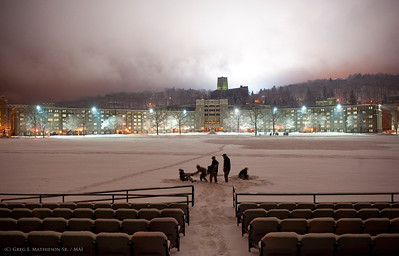 The United States Military Academy at West Point, New York during the first snow of 2011.  Photo: (C) 2011 Greg E. Mathieson Sr. / MAI