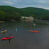 KRISTOPHER RADDER - BRATTLEBORO REFORMER<br /> People go out onto the West River in canoes and kayaks as the sun sets with lanterns during an event put on by the Vermont Performance Lab and Connecticut River Conservancy on Friday, May 25, 2018.