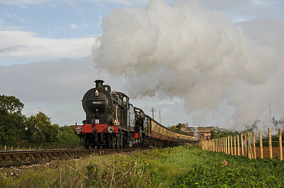 44422 and 53808 leaving Williton
