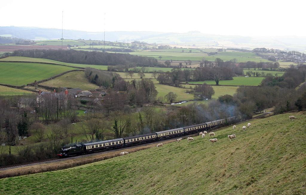 5553, 14.15, Minehead-Bishops Lydeard, Kentsford Farm, near Watchet, 1-3-08.