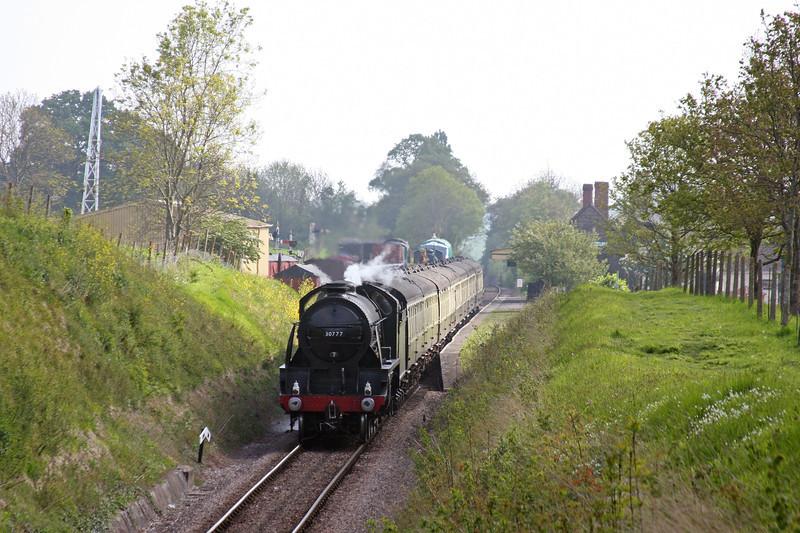 30777, 09.30 Bishops Lydeard-Minehead, Steam Engineman Course special, Washford, 28-4-11.