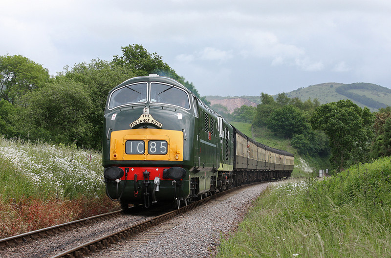 D832/D7017, 13.45 Bishops Lydeard-Minehead, Leigh Wood, near Stogumber, 17-6-12.