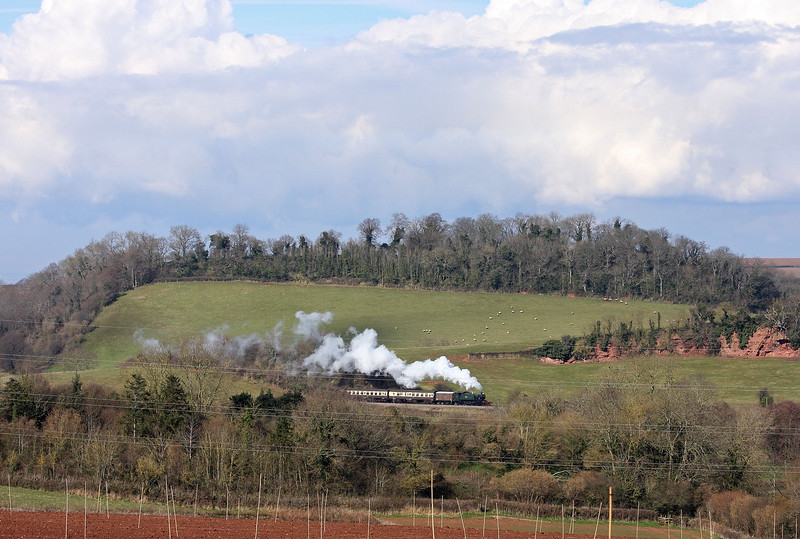 4160, 13.05 Minehead-Bishops Lydeard, near Sampford Brett quarry, 18-3-13.