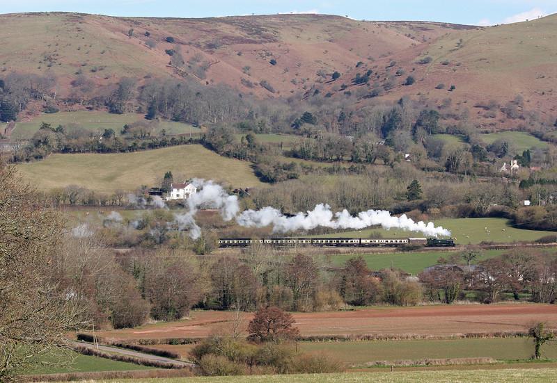 4160, 13.05 Minehead-Bishops Lydeard, Woolston Moor, between Woolston and Stogumber, 18-3-13.