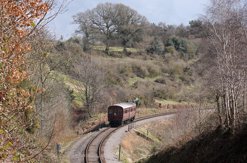 Rail Motor 93, 12.00 Bishops Lydeard-Minehead, Roebuck Bridge, near Crowcombe Heathfield, 18-3-13.