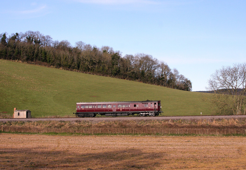 Rail Motor 93, 16.10 Bishops Lydeard-Minehead, Castle Hill, 18-3-13.