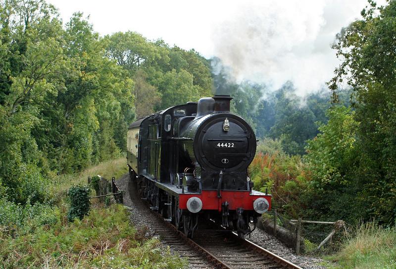 44422, Bishops Lydeard-Minehead, Nornvis Bridge, near Crowcombe Heathfield, 28-9-07.