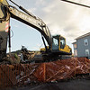 Demolition began at 39-43 West Street in Fitchburg on Tuesday morning. SENTINEL & ENTERPRISE / Ashley Green