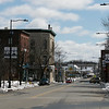 The traffic on West Street in Leominster near Monument Square was very light just before noon on Tuesday, March 24, 2020. SENTINEL & ENTERPRISE/JOHN LOVE