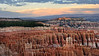 Sunset at Bryce Canyon National Park, Utah.