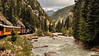 The Durango & Silverton Railroad. Rocky Mountains, Colorado.